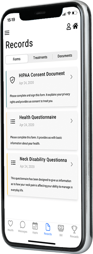chiropractic software IOS app